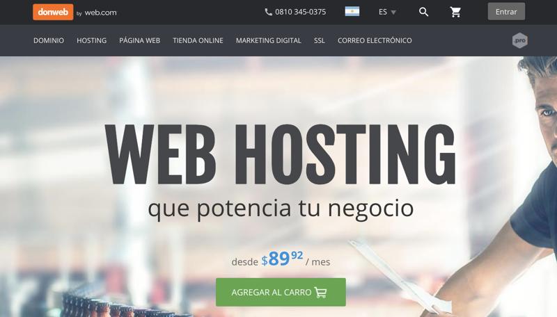 Hosting Argentina Donweb