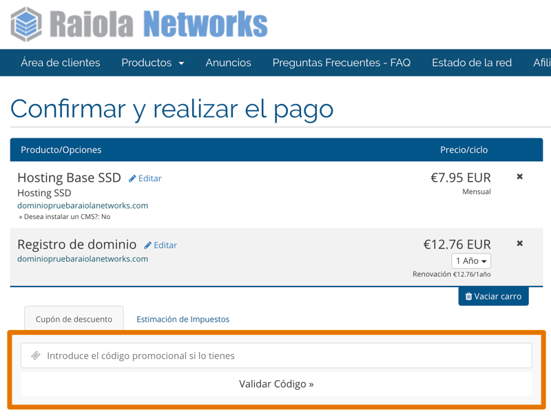 Raiola Networks cupón descuento 20%