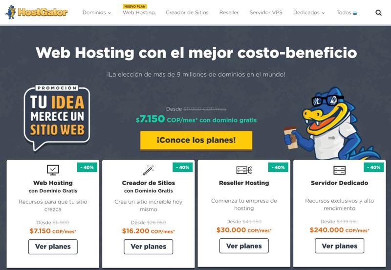 Hosting en Colombia con Hostgator