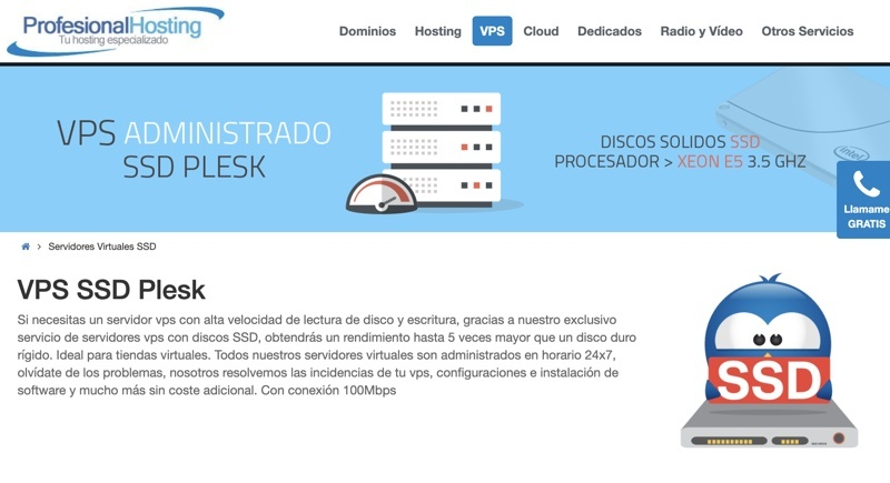 Servidores virtuales profesional hosting