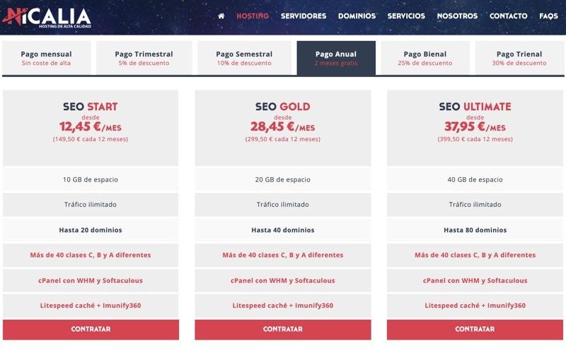 Nicalia hosting SEO