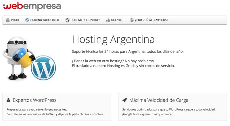 Mejor hosting calidad Webempresa