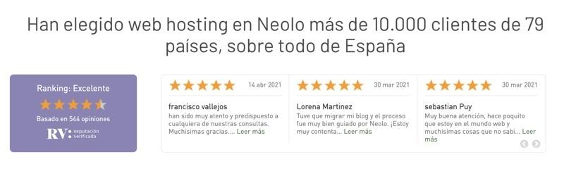 Valoración de Neolo