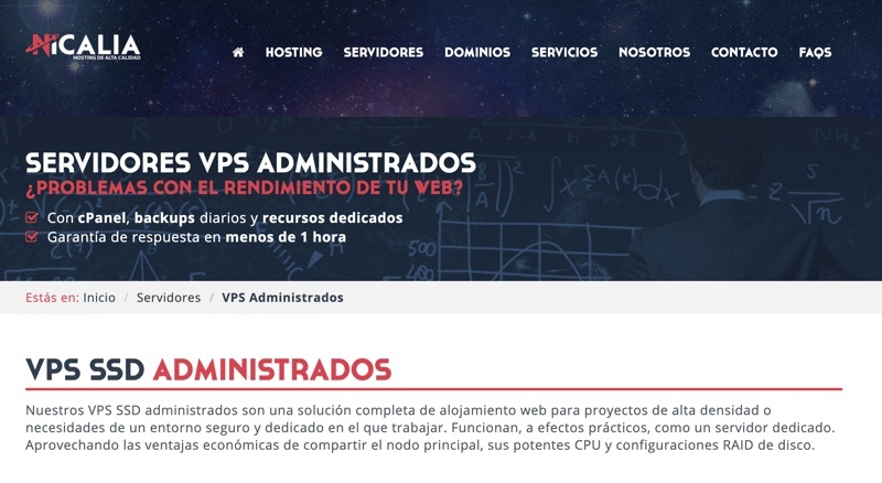 Nicalia Servidores virtuales