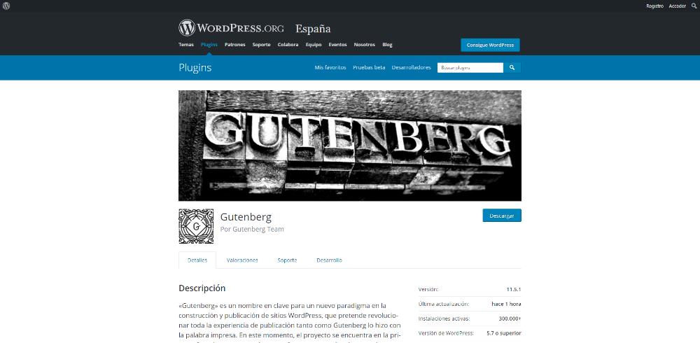 Editor visual Gutenberg